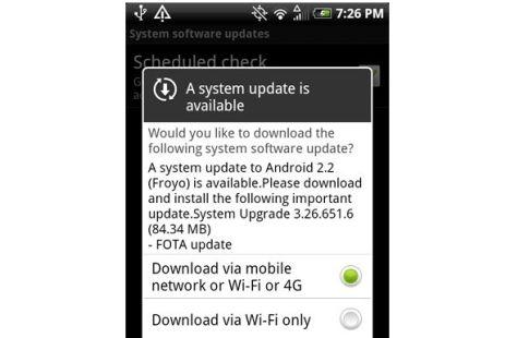 HTC Evo 4G Gets Android 2 2 OTA Update