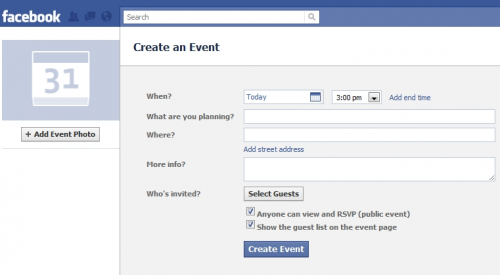 FacbookEvents 500x275 New changes to Google Events could be another piece to Googles social network puzzle