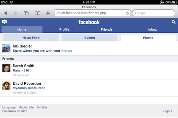 Facebook Location Feature 01 How Location Services Can Survive In Spite of Facebooks Entry