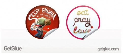GetGlueStickers 500x219 GetGlue launches special stickers for Eat, Pray, Love and Scott Pilgrim