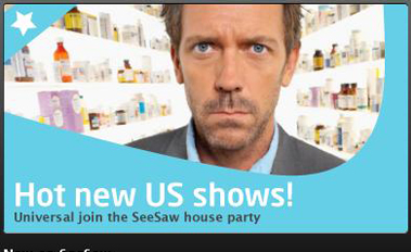 SeeSaw lets you stream House, Heroes, 30 Rock and more for 99p