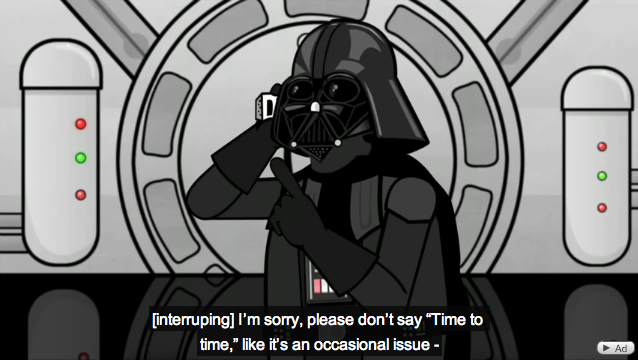 Darth Vader calls support about his iPhone 4, Hilarious!