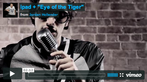 Eye of the Tiger, on iPads..