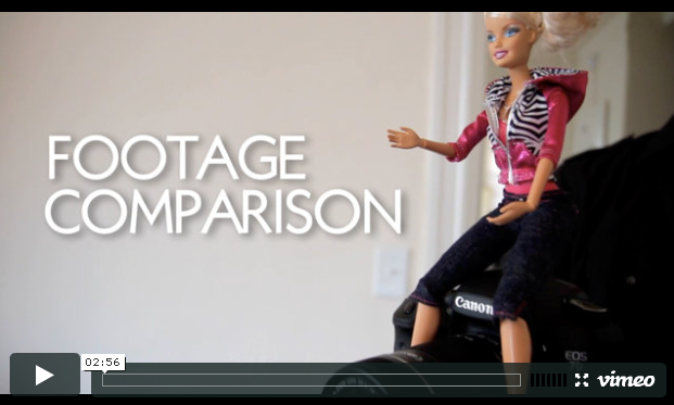 Comparison: Canon 7D – Barbie Video Girl