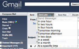 SendLater Boomerang 260x161 Boomerang for Gmail: Send email later or receive it when you want