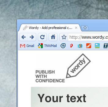 Typo prone? Grammar deficient? Wordy is here to help.