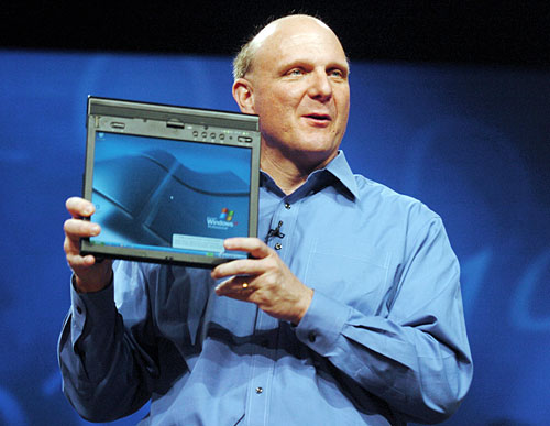 "Ballmer: Android is a ""weird collection"" of machines."