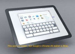 chromeos tablet 260x188 Google bringing a Chrome OS tablet to market, just in time for the holidays.