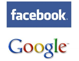 facebook google 300x235 Google Places vs Facebook Places: It's Search vs. Social