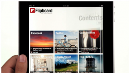 flipboardipad 260x148 Apple Releases New iPad Is... Commercial, Flipboard Goes Mainstream.