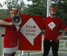 foursquarestival thumb 260x217 Foursquare Foxhunt was fun, educational... with creepy masks