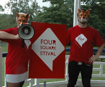 "Foursquare ""Foxhunt"" was fun, educational… with creepy masks"