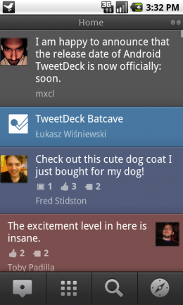 home 260x433 TweetDeck for Android: Our first look and impressions