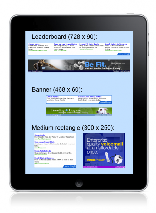 iPad 500x684 Google offers iPad developers new Adsense options