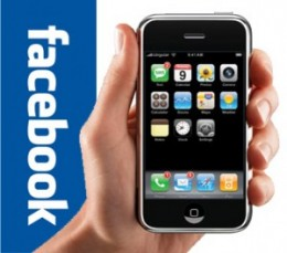 iphone facebook 300x265 260x229 Facebook For iPhone Now Has 102 Million Users