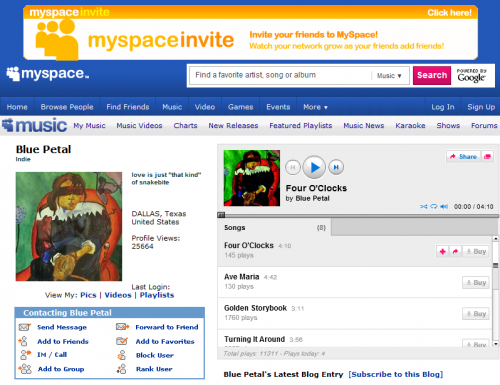 myspace bluepetal e1282352046840 Jeeran Music vs. MideasTunes: The Battle for MENAs MySpace is On