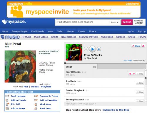 Blue Petal Music on Myspace