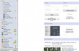 newsblur 260x166 NewsBlur is a slick, new RSS reader that intelligently makes sense out of your feeds.