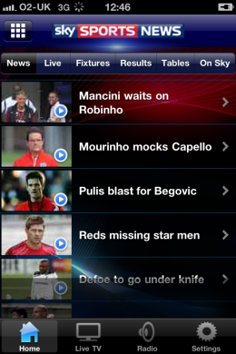 photo 1 260x390 Sky Sports News scores BSkyB its 9th iPhone App
