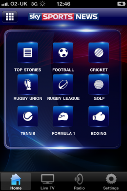 photo 260x390 Sky Sports News scores BSkyB its 9th iPhone App