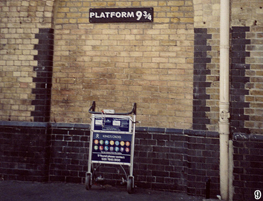 Going to Hogwarts? Make sure to check-in at Platform 9 3/4