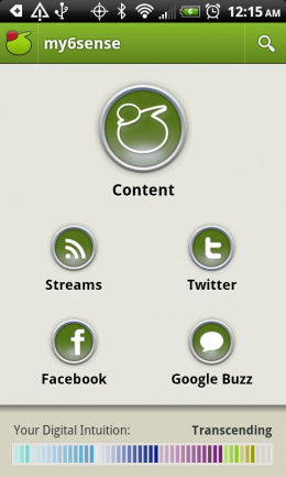 1 260x433 my6sense comes to Android, bringing intuition to your stream reading.