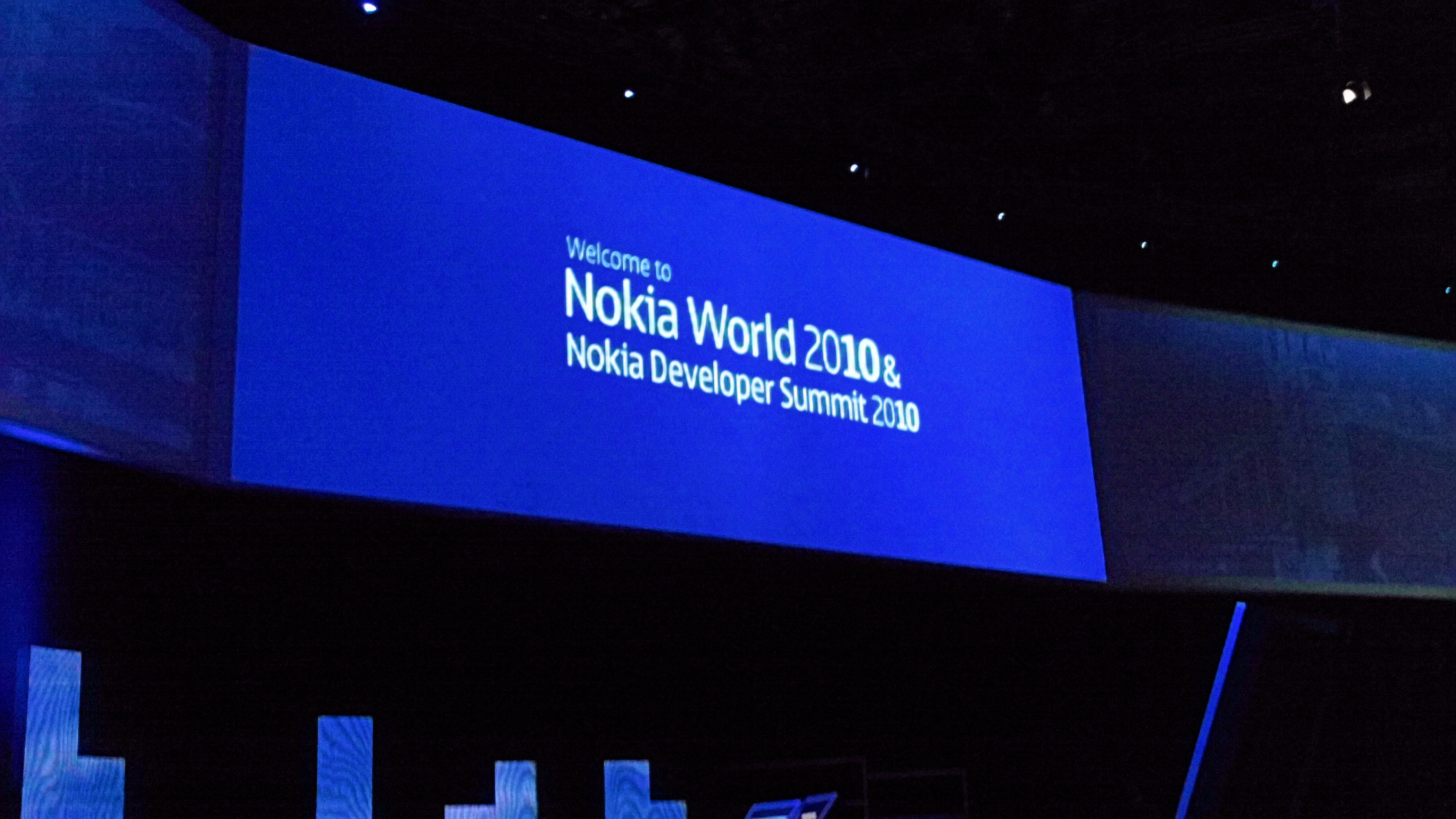 Live from the Nokia World opening keynote