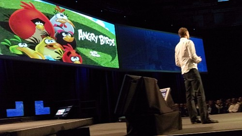 Angry Birds 500x281 Live from the Nokia World opening keynote