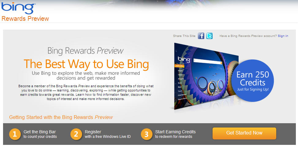 BingRewards Search and you will receive. Microsoft launches Bing Rewards.