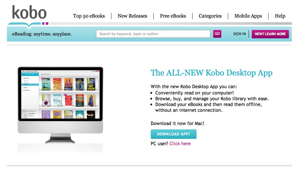 Download the free Kobo Desktop