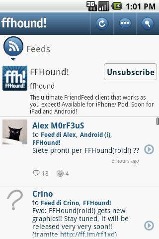 FriendFeed app comes to Android with FFHound!