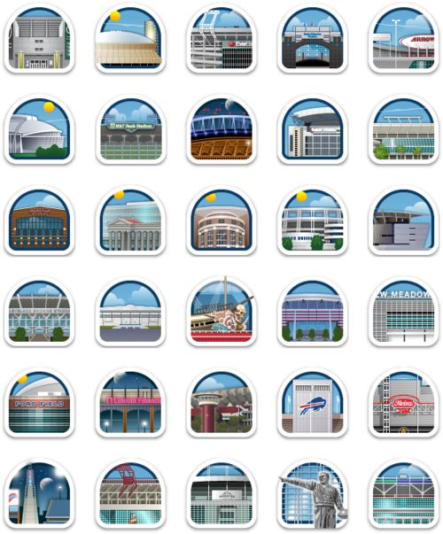 GowallaFootballStamps1 Gowalla launches 32 new stamps for fans of the NFL.