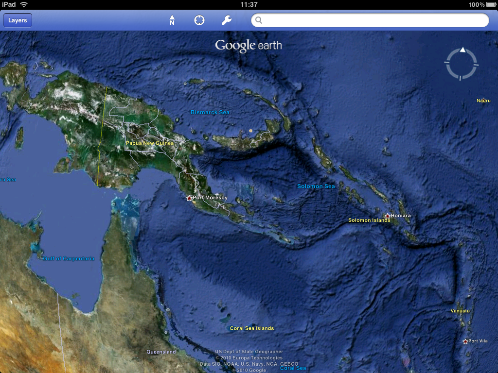 Under the sea with Google Earth for iOS with Retina Display support