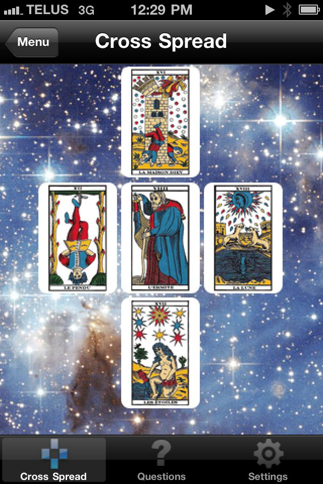 Tarot on the iPhone? Play your cards right and get it free