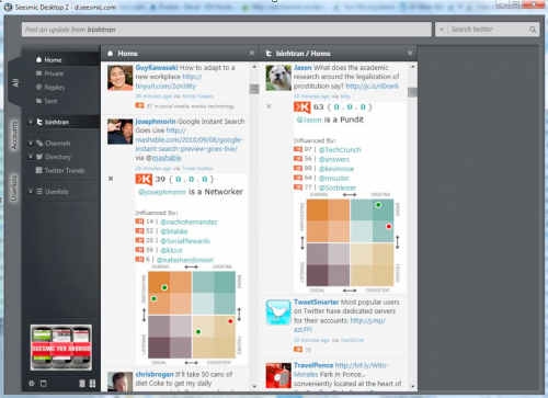 Klout1 500x363 Seesmic Desktop 2 launches with over 40 social media services, Mac OS X version