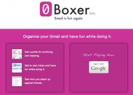 Organize your Gmail and have fun while doing it. Game your inbox. 0Boxer 260x186 Inbox Zero, Compulsion to Many, Game to 0Boxer