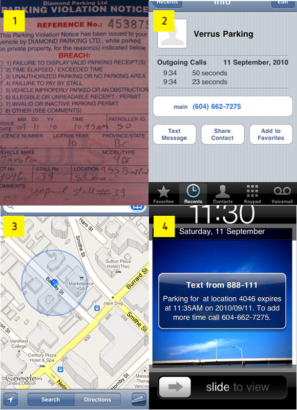 Use your iPhone to get out of a parking ticket
