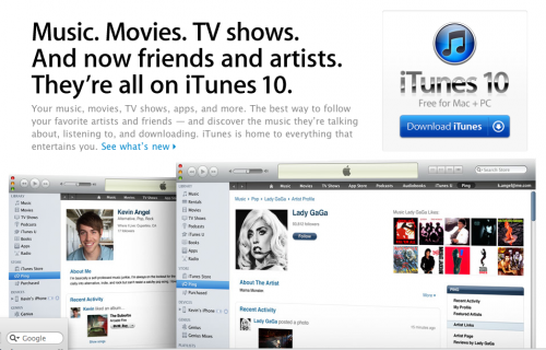 iTunes 10 is Now Available for Download