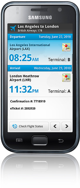 android flight status WorldMates personal travel assistant lands on Android