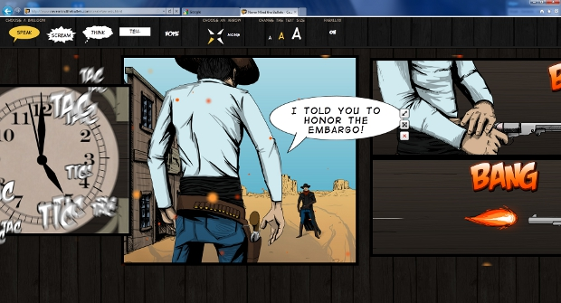 bang IE9 tells you to Never Mind The Bullets with interactive comic to showcase HTML5