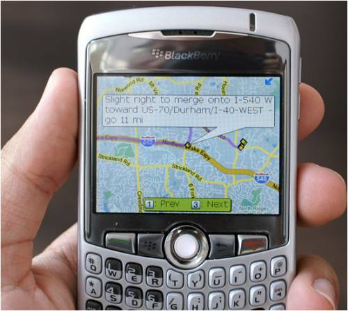 blackberry cuve google map The Google Mobile App will now search cloud based items for Blackberry users.