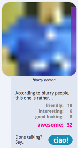 blurry 2 BlurryPeople is what ChatRoulette 2.0 could have been
