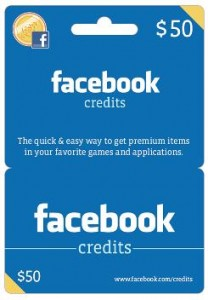 facebookx 208x300 Coming Soon To Target: Facebook Credit Gift Cards