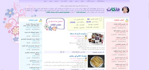 Homepage of Fatakat.com