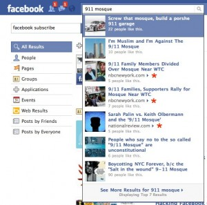 fbnewssearch 20100903 122411 300x297 Facebook displaying liked articles in search. Google last seen attempting to care.