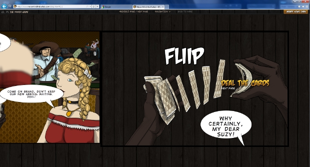 flip IE9 tells you to Never Mind The Bullets with interactive comic to showcase HTML5