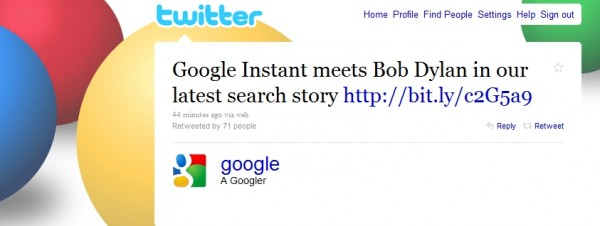 googler 600x226 Google using Promoted Tweets to pitch Google Instant