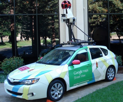 image by sanchom 500x416 Irony: Google blocks filming of vandalised Street View cars