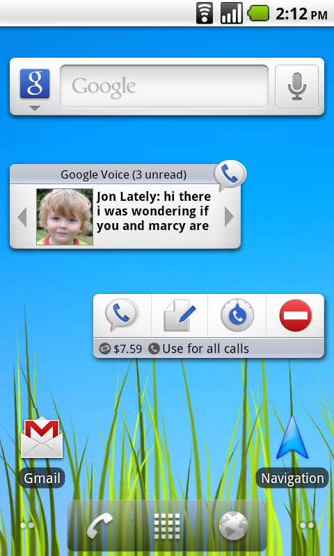 image2 Google Voice gets custom Android widgets for easier access