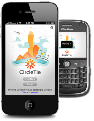 iPhone and BlackBerry support for CircleTie make it available for most tech savvy users